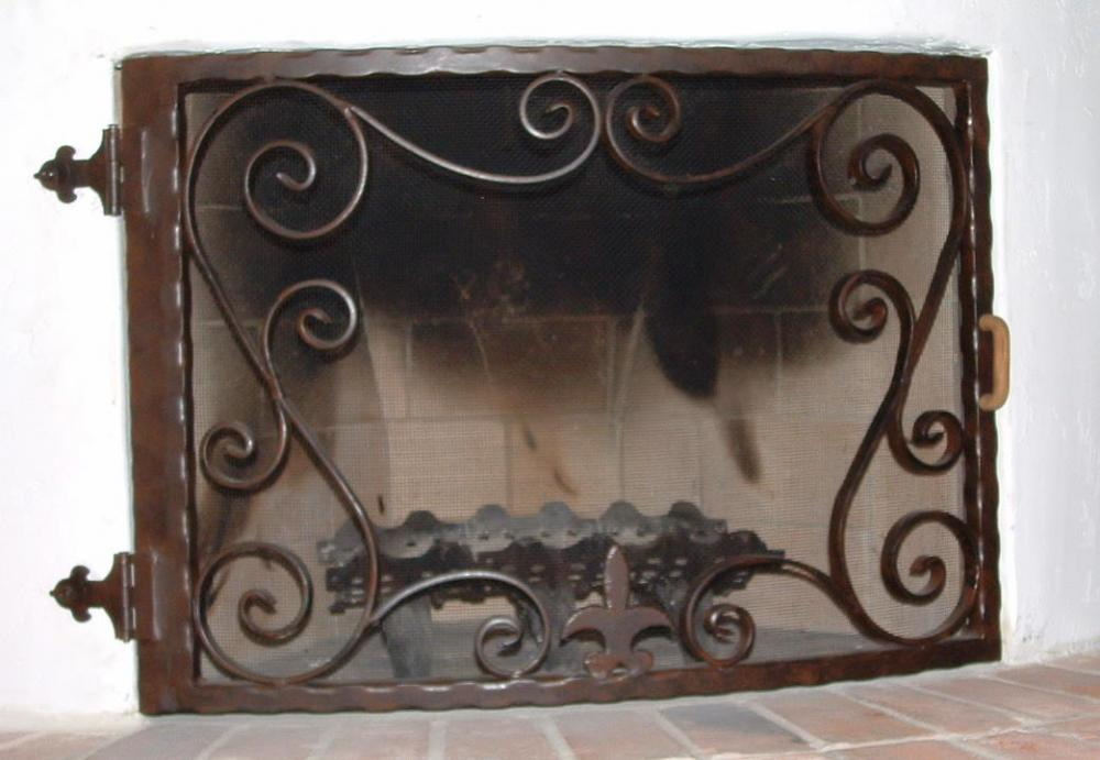 Early California Fireplace Screen